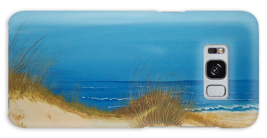 Beach Galaxy S8 Case featuring the painting Grayton Beach Dunes by Nancy Nuce