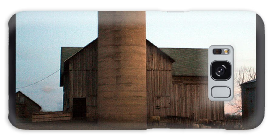 Barn Galaxy Case featuring the photograph Grazing At Dawn by Tim Nyberg