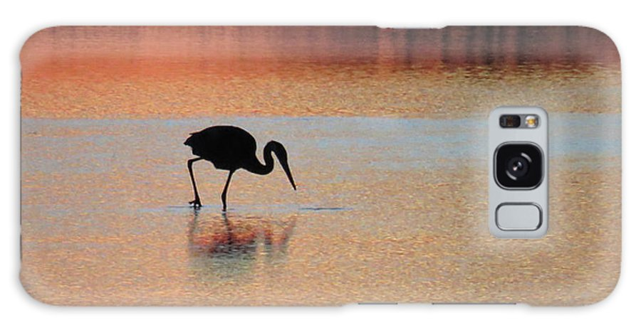 Great Blue Heron Galaxy S8 Case featuring the photograph Great Blue Heron At Sunset by Pat Miller