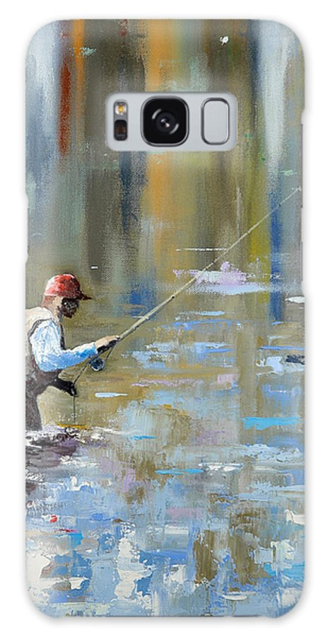 Flyfishing Galaxy S8 Case featuring the painting Great Expectations by Glenn Secrest
