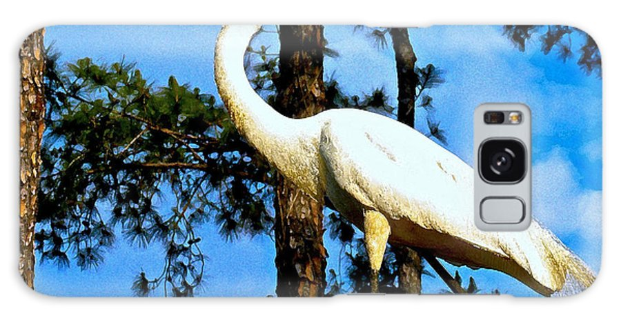 Animals Galaxy S8 Case featuring the digital art Great Heron Art by Dale Chapel