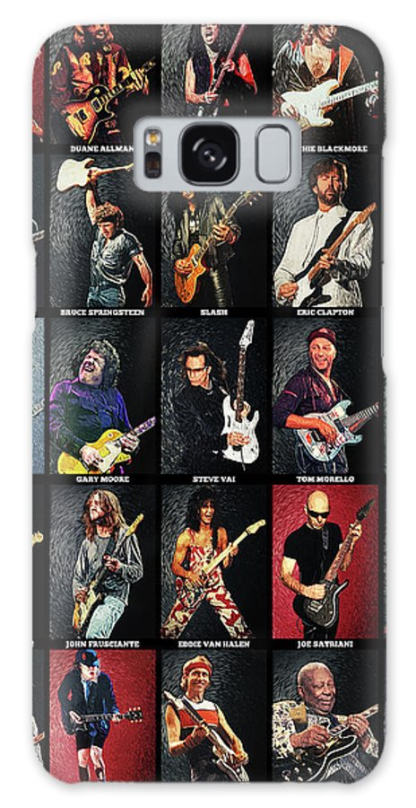 Guitar Galaxy Case featuring the digital art Greatest Guitarists Of All Time by Zapista OU