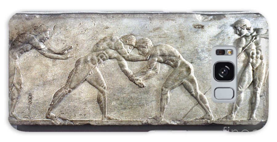 Ancient Galaxy S8 Case featuring the photograph Greece: Wrestlers by Granger