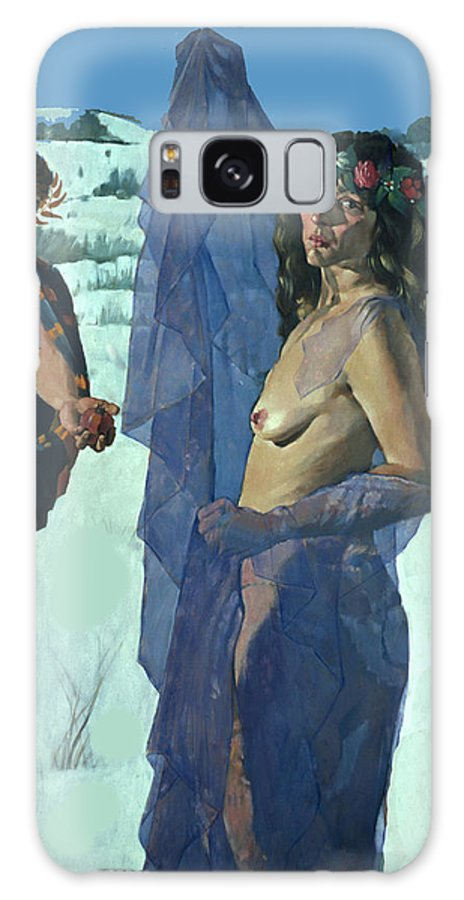 Greece Galaxy S8 Case featuring the photograph Greek Adam And Eve by Carl Purcell