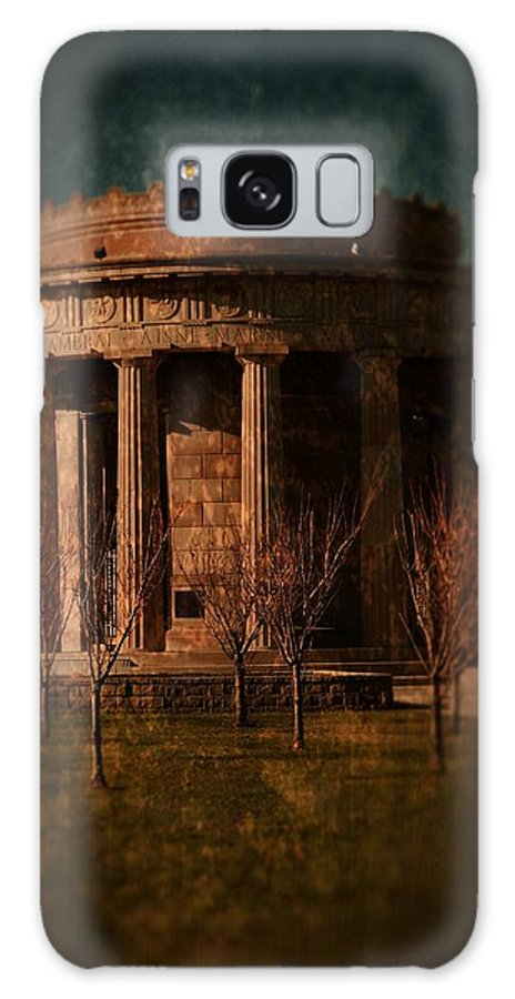 Textured Galaxy S8 Case featuring the photograph Greek Temple Monument War Memorial by Angie Tirado