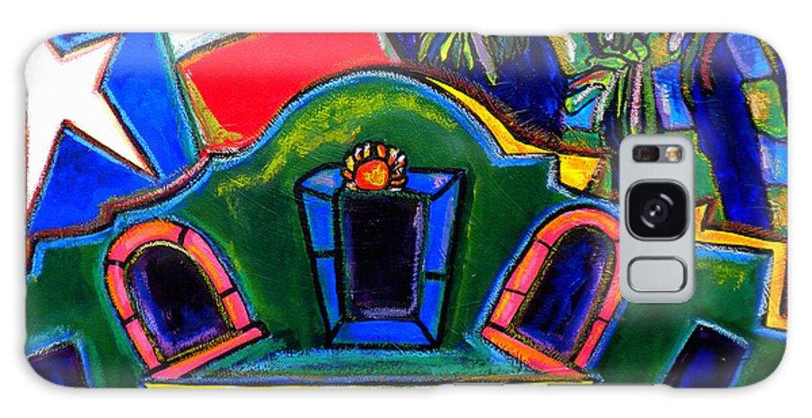 The Alamo Galaxy S8 Case featuring the painting Green Alamo by Patti Schermerhorn