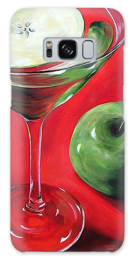 Martini Galaxy S8 Case featuring the painting Green Apple Martini by Torrie Smiley