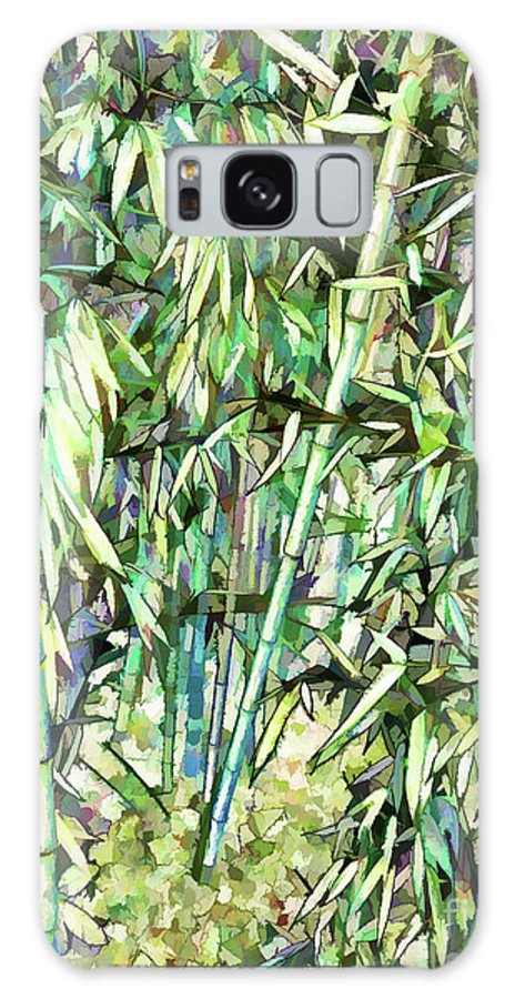 Art Of Bamboo Galaxy S8 Case featuring the painting Green Bamboo Tree by Jeelan Clark