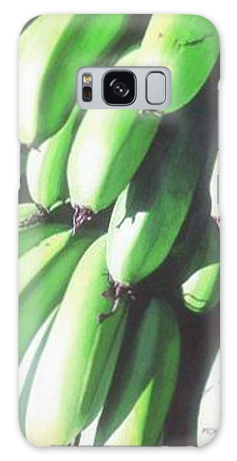 Hyperrealism Galaxy Case featuring the painting Green Bananas I by Michael Earney