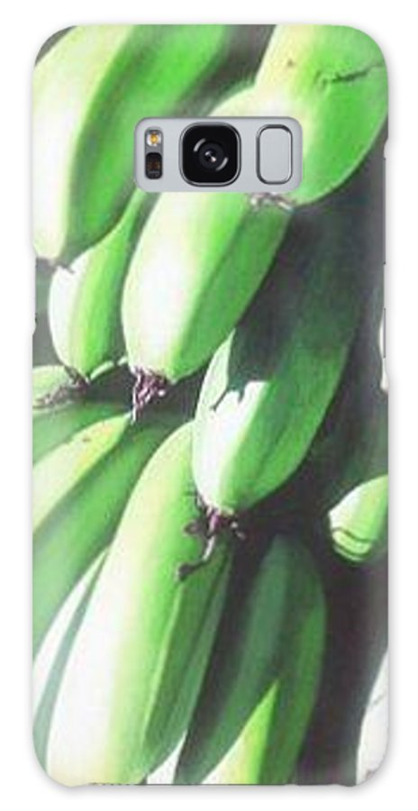 Hyperrealism Galaxy S8 Case featuring the painting Green Bananas I by Michael Earney