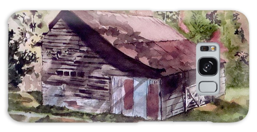 Barns Galaxy Case featuring the painting Green Creek Barn by Jean Blackmer