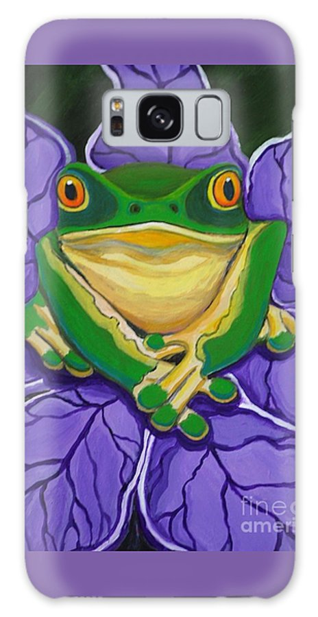 Frog Painting Galaxy S8 Case featuring the painting Green Frog by Nick Gustafson
