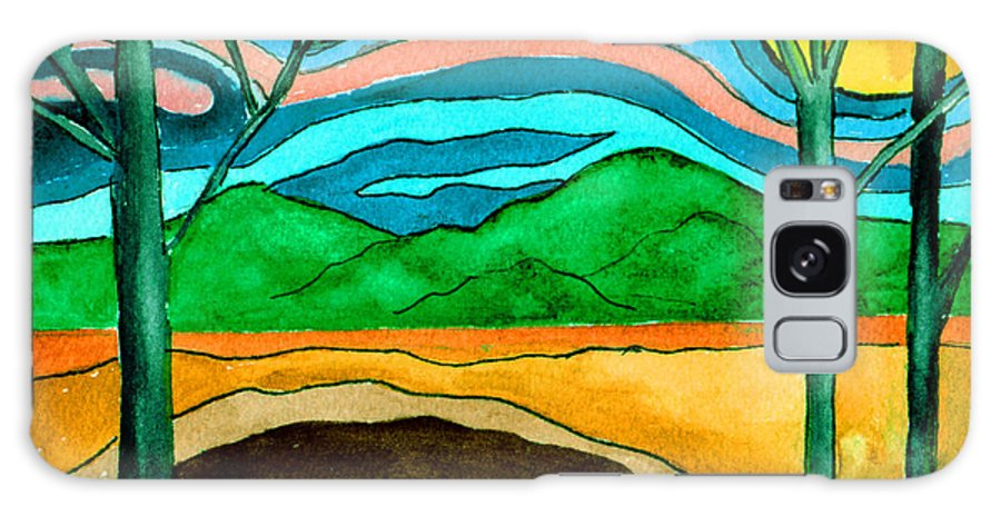 Watercolor Galaxy S8 Case featuring the painting Green Hill Country by Brenda Owen