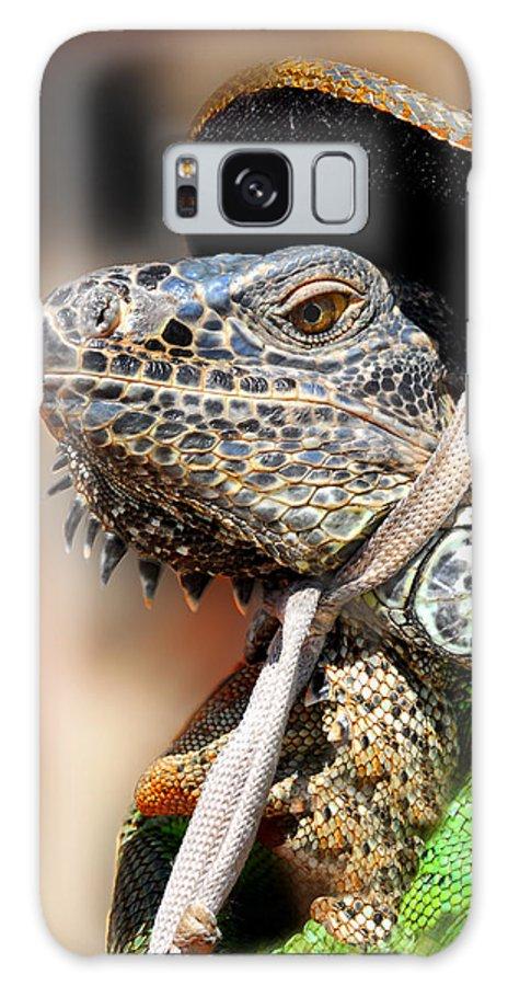 Green Iguana Galaxy S8 Case featuring the photograph Green Iguana by Craig Incardone