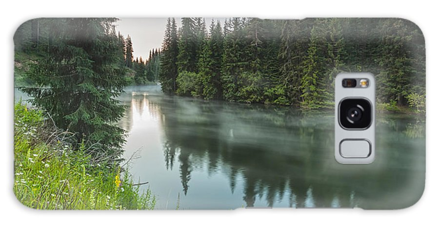 Mountain Galaxy S8 Case featuring the photograph Green Lake by Evgeni Dinev