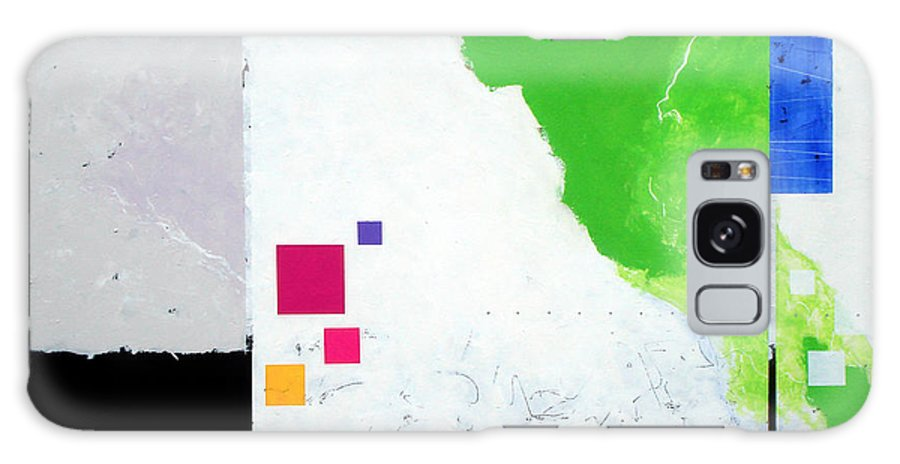 Abstract Galaxy Case featuring the painting Green Movement by Jean Pierre Rousselet