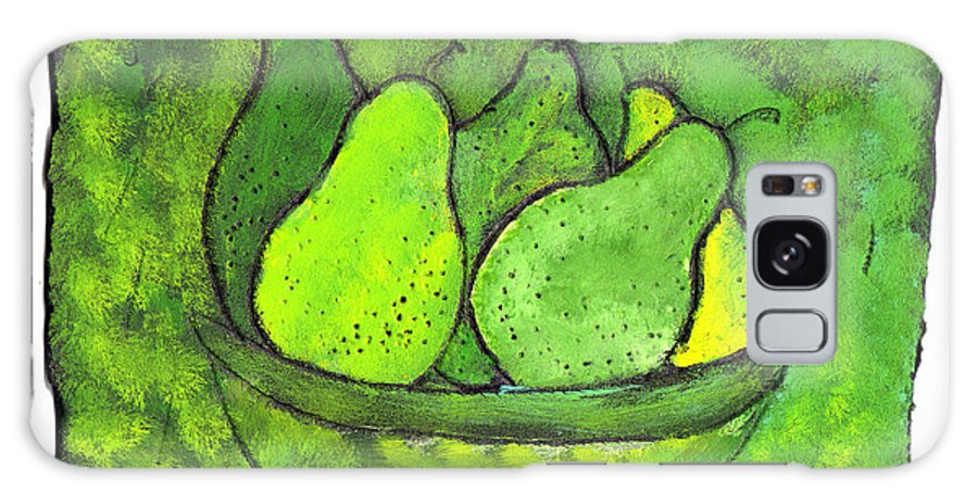 Greem. Pears Galaxy S8 Case featuring the painting Green Pears by Wayne Potrafka