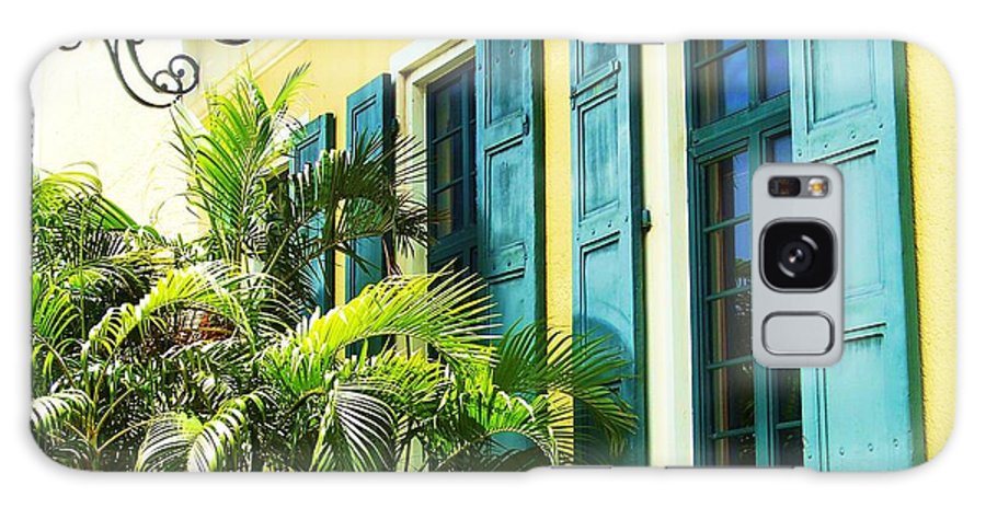 Architecture Galaxy Case featuring the photograph Green Shutters by Debbi Granruth