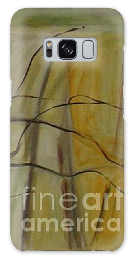 Spring Young Trees Saplings Trees Galaxy Case featuring the painting Green Sonnet by Leila Atkinson
