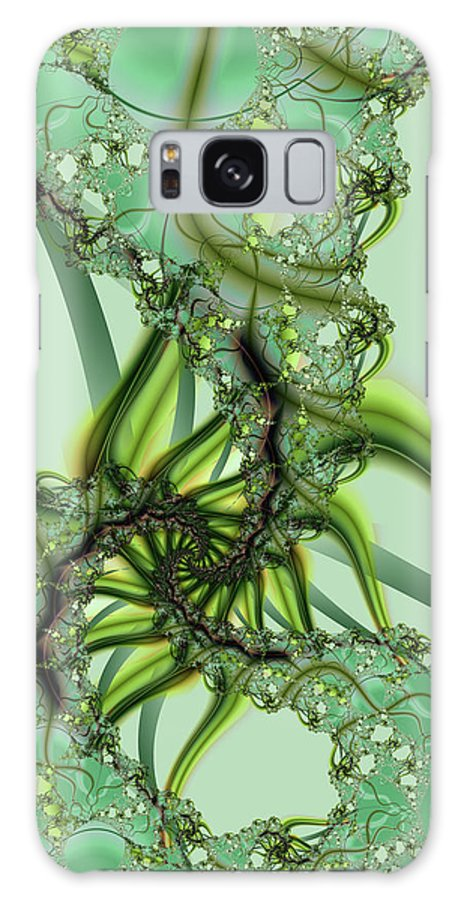 Fractal Galaxy Case featuring the digital art Green Vines by Frederic Durville