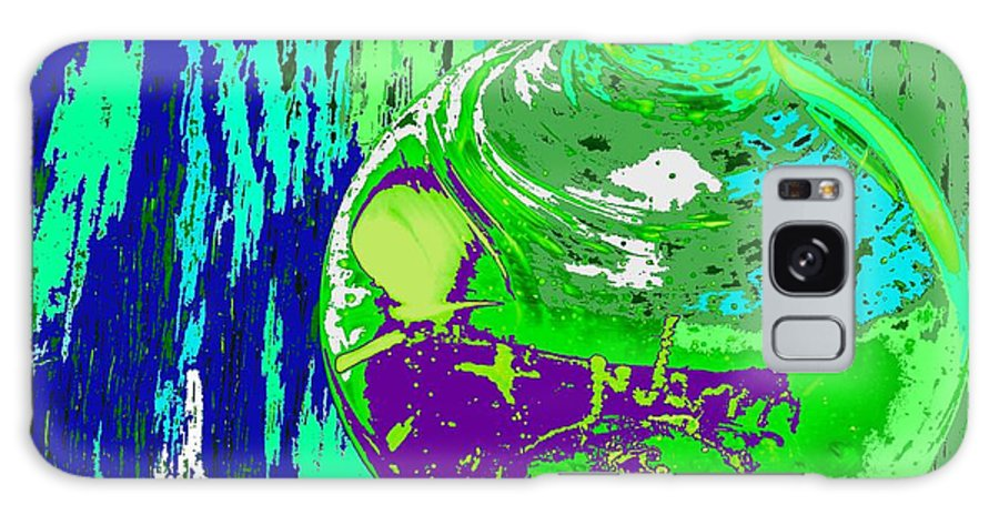 Abstract Galaxy Case featuring the photograph Green Whirl by Ian MacDonald