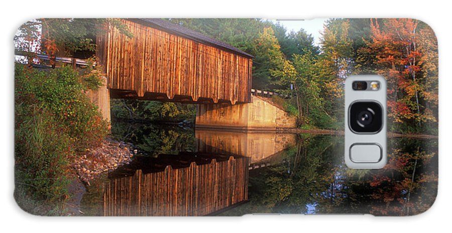 Covered Bridge Galaxy S8 Case featuring the photograph Greenfield Nh Covered Bridge by John Burk