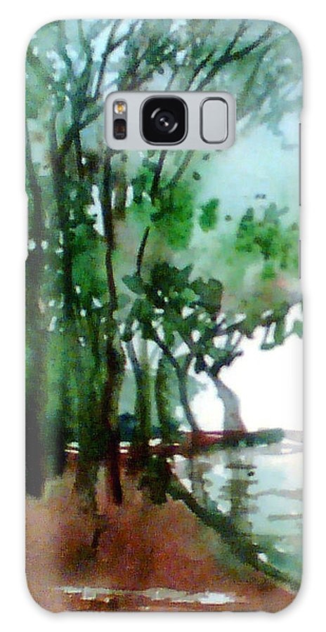 Water Color Galaxy Case featuring the painting Greens by Anil Nene