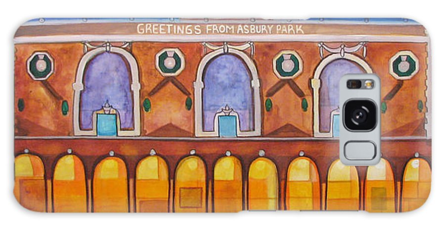 Memorabilia Galaxy S8 Case featuring the painting Greetings From Asbury Park by Patricia Arroyo