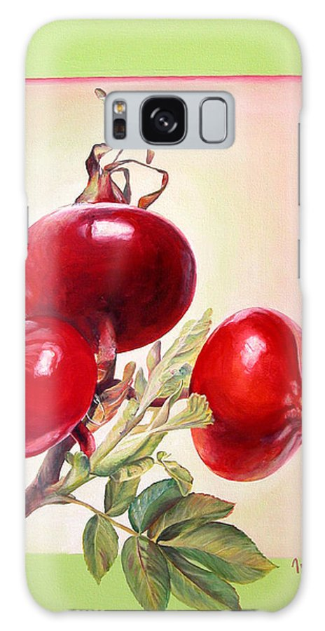 Still Life Galaxy S8 Case featuring the painting Grenadine by Muriel Dolemieux