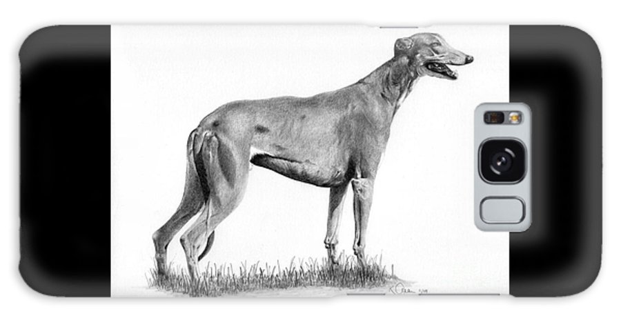 Dog Galaxy S8 Case featuring the drawing Greyhound by Karen Townsend