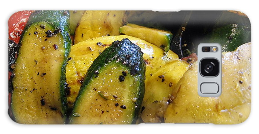 Bell Peppers Galaxy S8 Case featuring the photograph Grilled Veggies by Amy Hosp