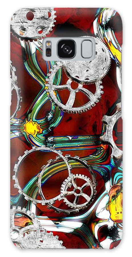 Gears Galaxy S8 Case featuring the painting Grinding The Gears by RC DeWinter
