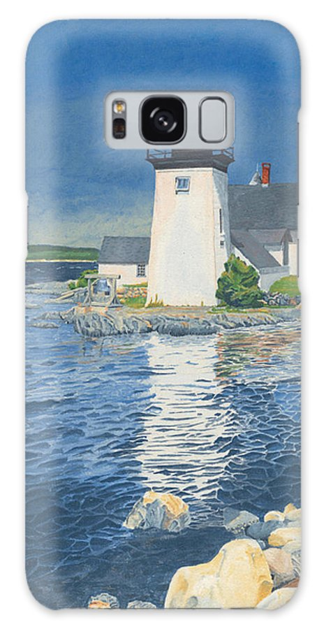 Lighthouse Galaxy S8 Case featuring the painting Grindle Point Light by Dominic White