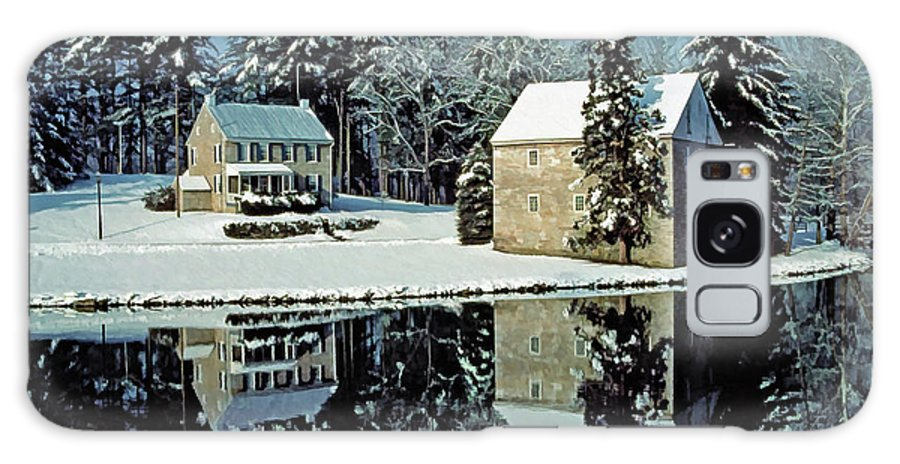 Grings Mill Recreation Area Galaxy S8 Case featuring the photograph Grings Mill Snow 001 by Scott McAllister