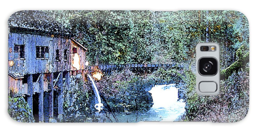 Griss Mill Galaxy Case featuring the photograph Griss Mill Watercolor by Larry Keahey