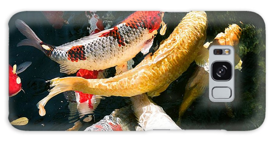 Fish Galaxy S8 Case featuring the photograph Group Of Koi Fish by Dean Triolo
