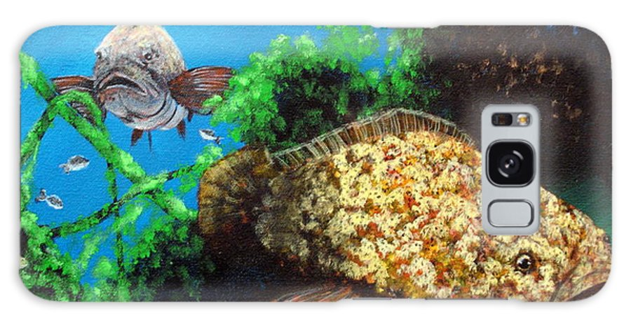 Gamefish Galaxy S8 Case featuring the painting Grouper In Wreck by Susan Kubes