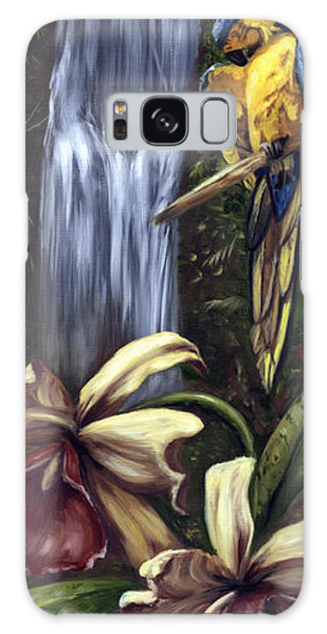 Birds Galaxy S8 Case featuring the painting Guardian Of The Falls by Anne Kushnick