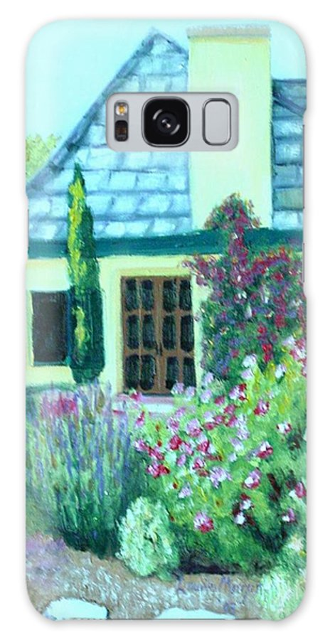 Cottage Galaxy S8 Case featuring the painting Guest Cottage by Laurie Morgan