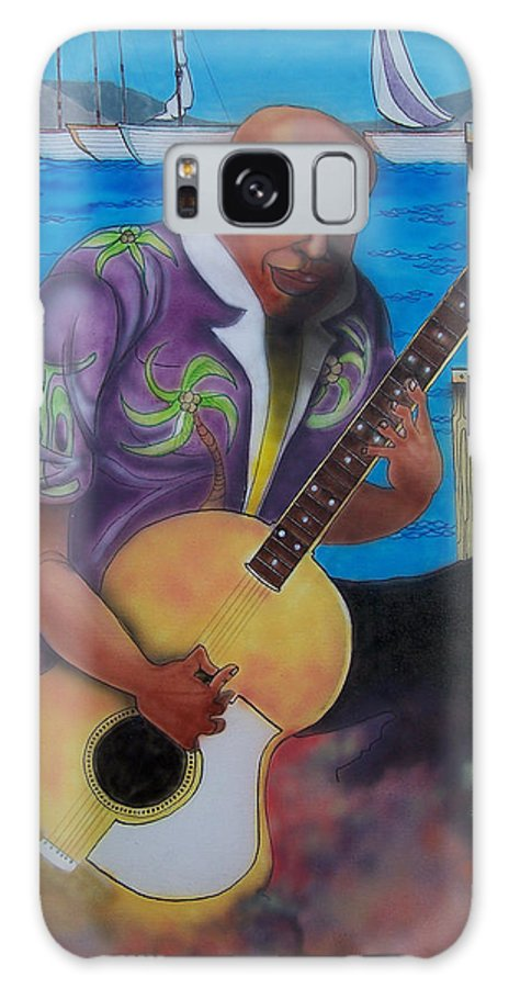 Guitar Player Galaxy S8 Case featuring the painting Guitar On The Bay by Douglas Berry