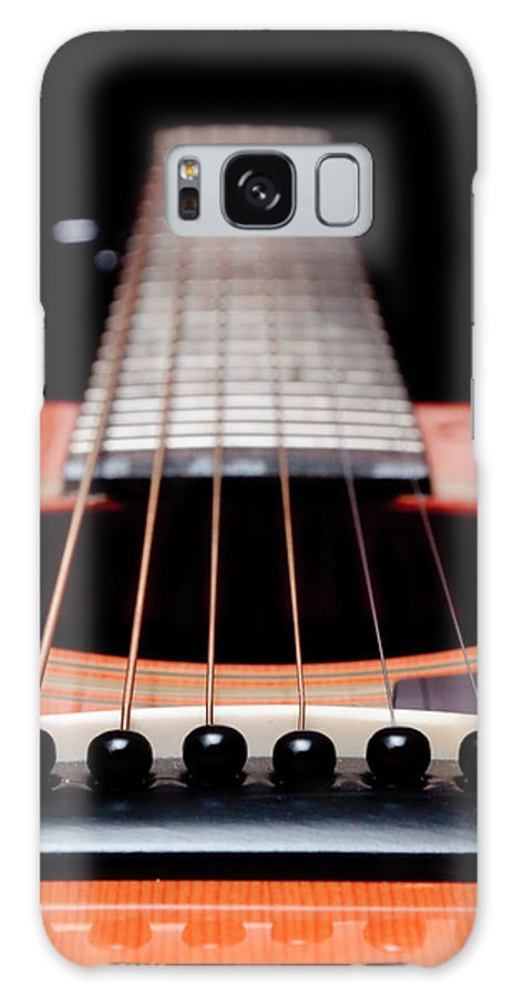 Andee Design Guitar Galaxy S8 Case featuring the photograph Guitar Orange 19 by Andee Design
