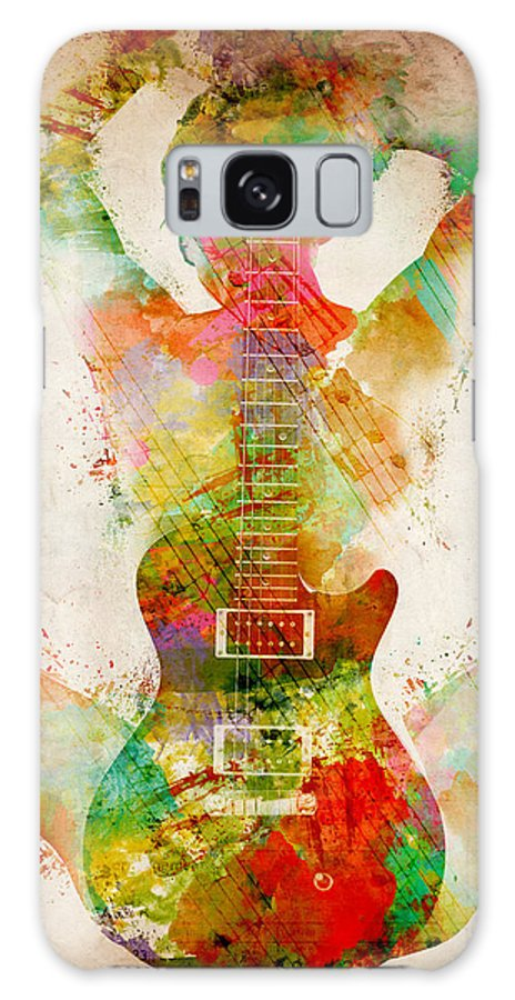 Guitar Galaxy Case featuring the digital art Guitar Siren by Nikki Smith