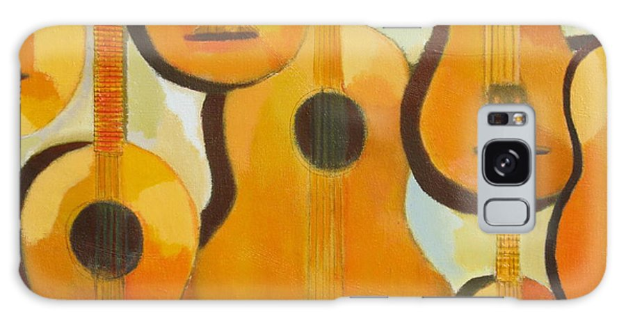 Abstract Galaxy Case featuring the painting Guitars by Habib Ayat