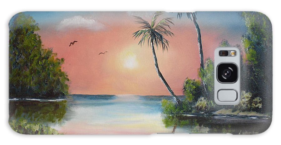 Sunset Galaxy S8 Case featuring the painting Gulf Coast Sunset by Susan Kubes
