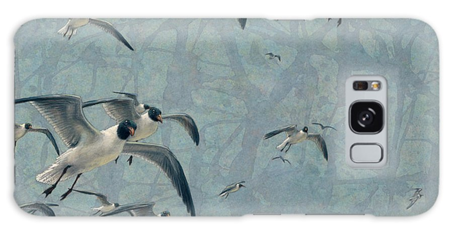 Gulls Galaxy S8 Case featuring the painting Gulls by James W Johnson