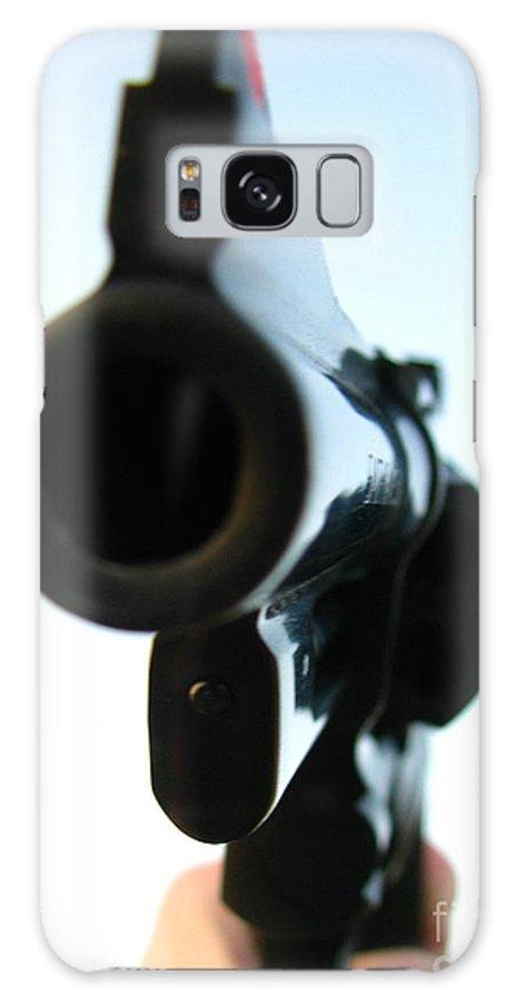 Guns Galaxy Case featuring the photograph Gun by Amanda Barcon