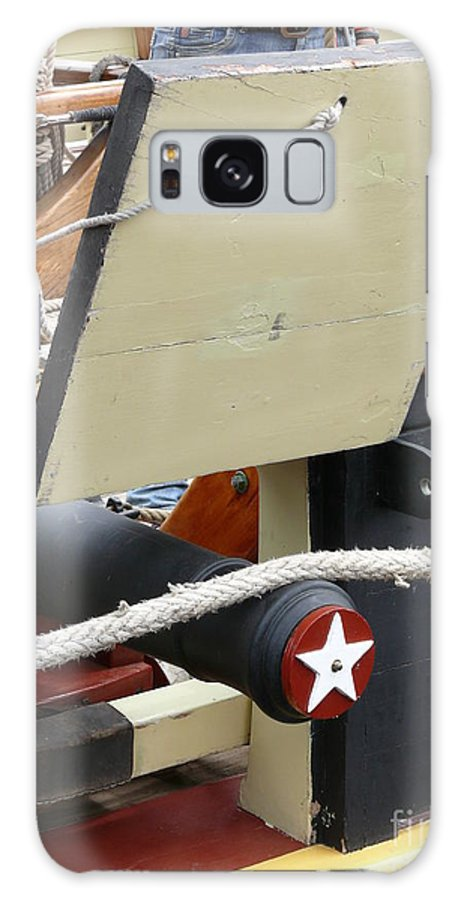 Ship Gun Galaxy S8 Case featuring the photograph Gun Port by David Pettit