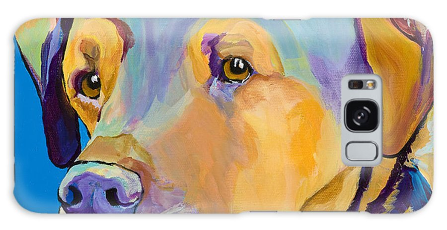 Dog Portrait Galaxy Case featuring the painting Gunner by Pat Saunders-White