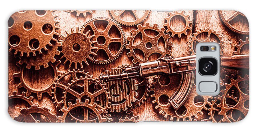 Guns Galaxy S8 Case featuring the photograph Guns Of Machine Mechanics by Jorgo Photography - Wall Art Gallery