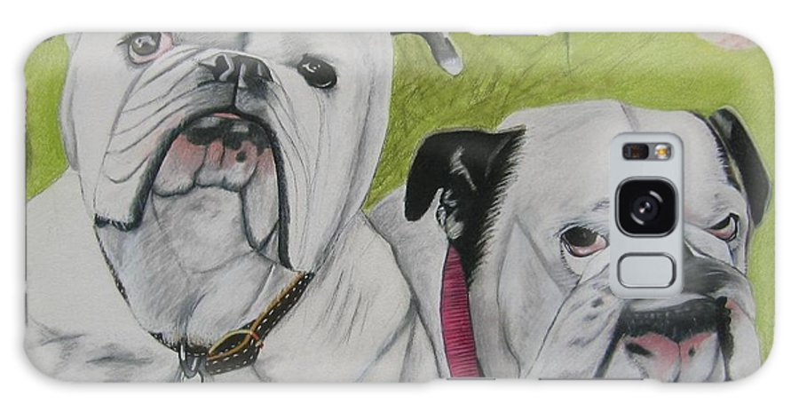 Dog Painting Galaxy S8 Case featuring the pastel Gus And Olive by Michelle Hayden-Marsan